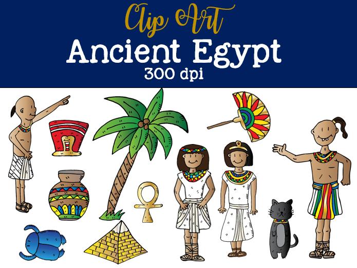 Ancient Egypt Clip Art Set 1.