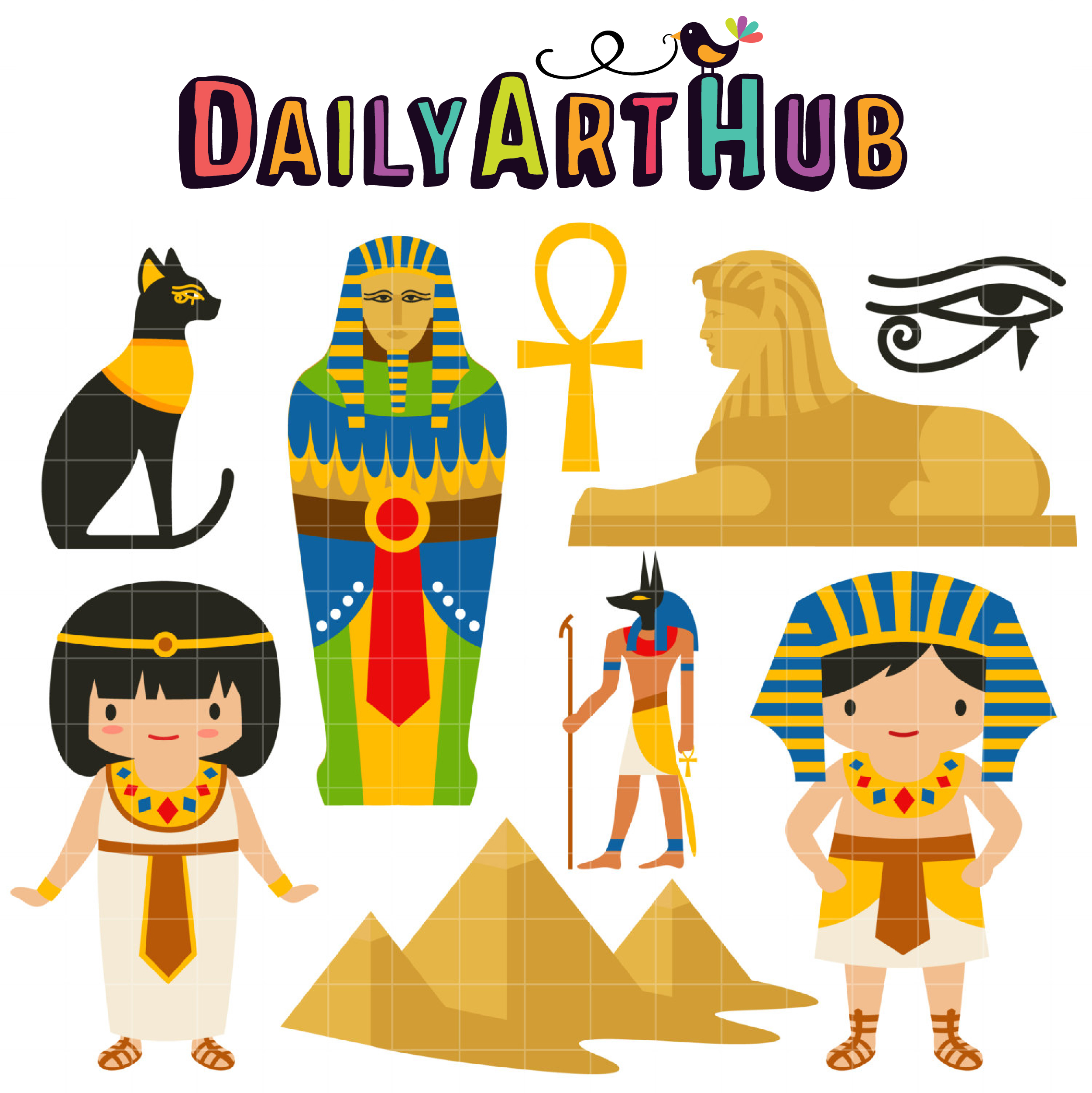 Ancient Egypt Clip Art Set.