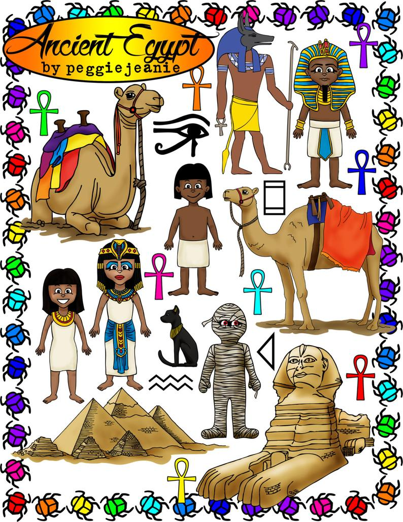 Ancient Egypt Clipart by peggiejeanie.
