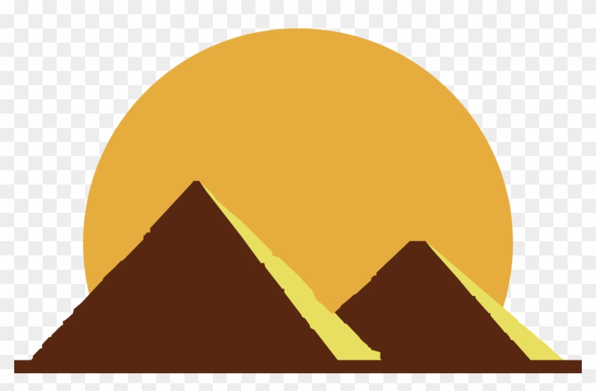 Egyptian Pyramids Ancient Flat Transprent Png Free.