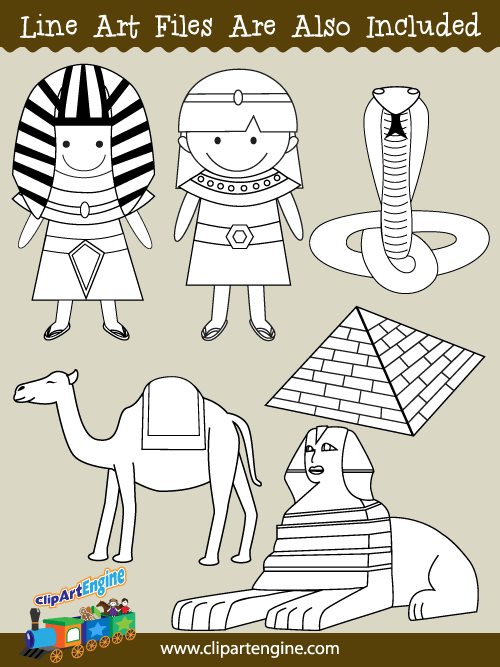Ancient Egypt Clip Art for Personal and Commercial Use.
