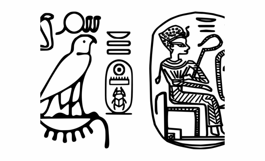 Hieroglyphs Clipart Black And White.