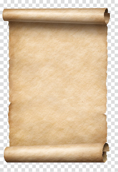 Empty brown scroll transparent background PNG clipart.