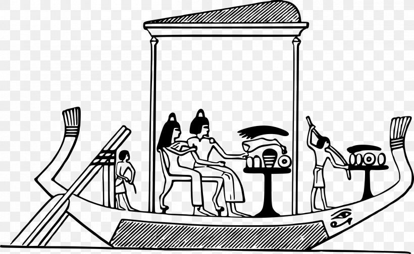 Ancient Egypt Boat Egyptian Clip Art, PNG, 2400x1476px.