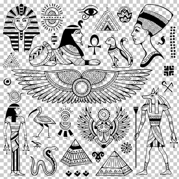 Egyptian pyramids Ancient Egypt Egyptian hieroglyphs Symbol.