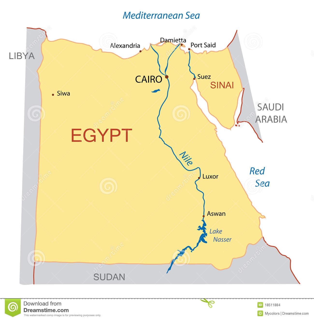 Egypt Map Clipart.