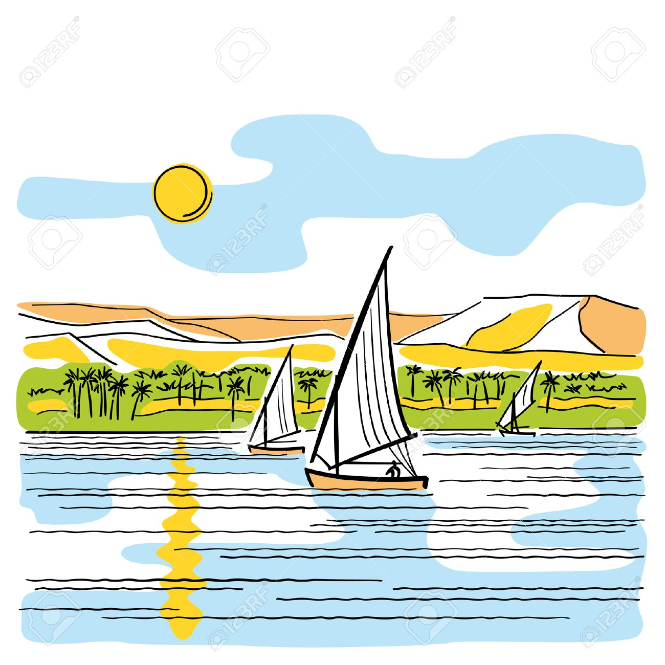 Egyptian clipart nile river, Egyptian nile river Transparent.