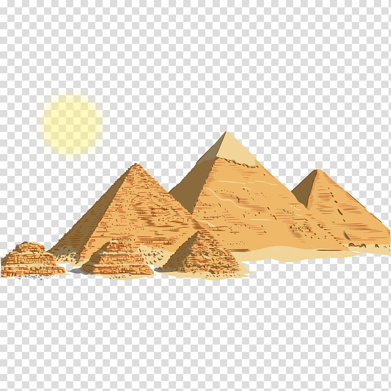 Pyramid illustration, Egyptian pyramids Ancient Egypt.