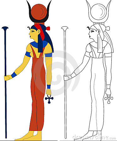 Hathor Stock Illustrations.