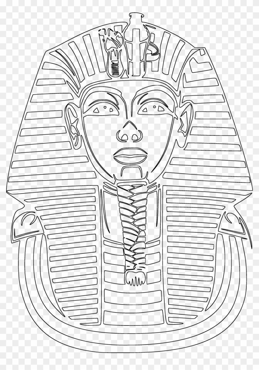 Tutankhamun Outline Clipart.