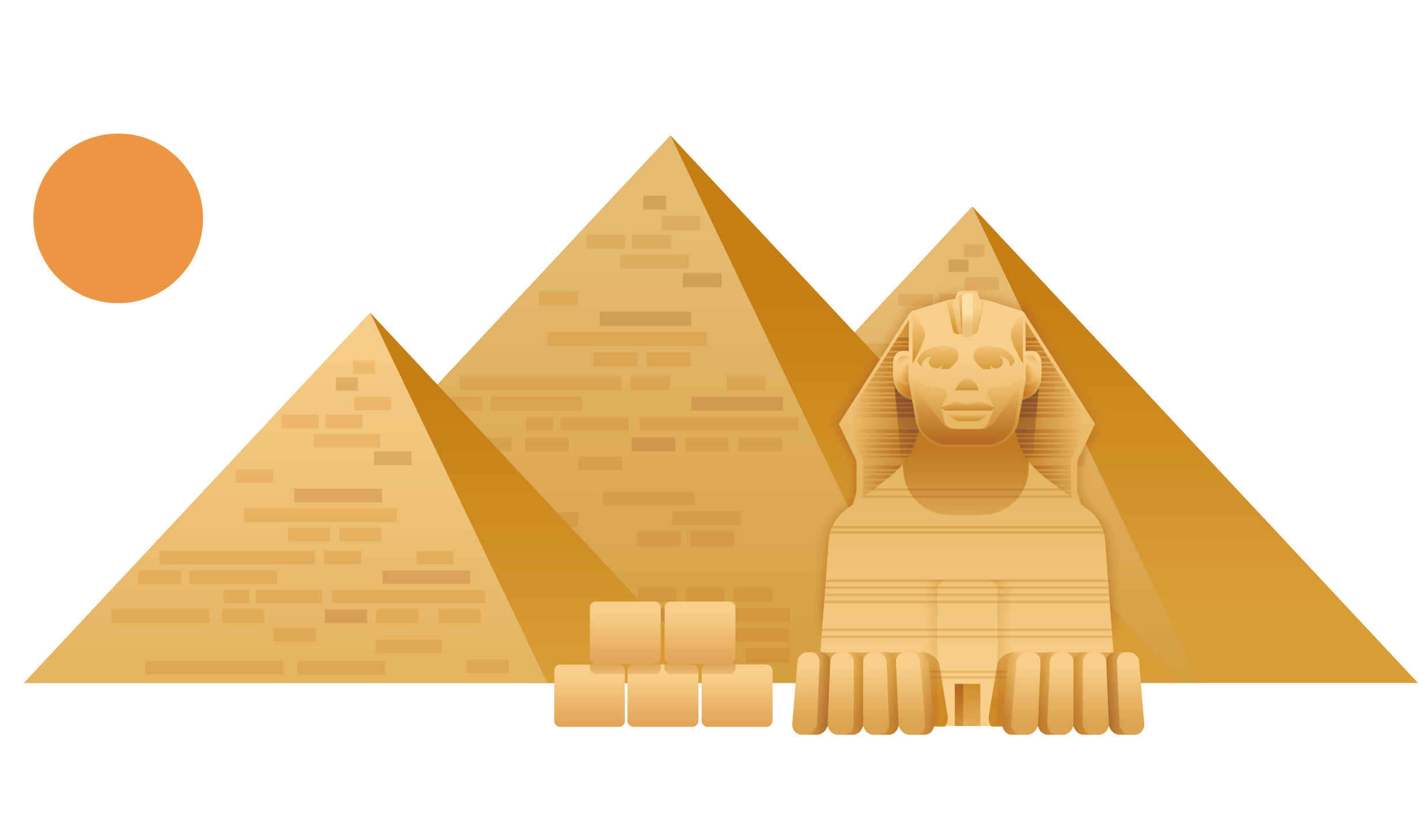 Great Sphinx of Giza Great Pyramid of Giza Egyptian pyramids.