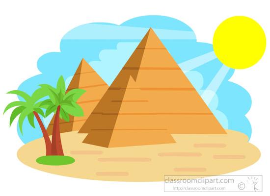327 Pyramids free clipart.
