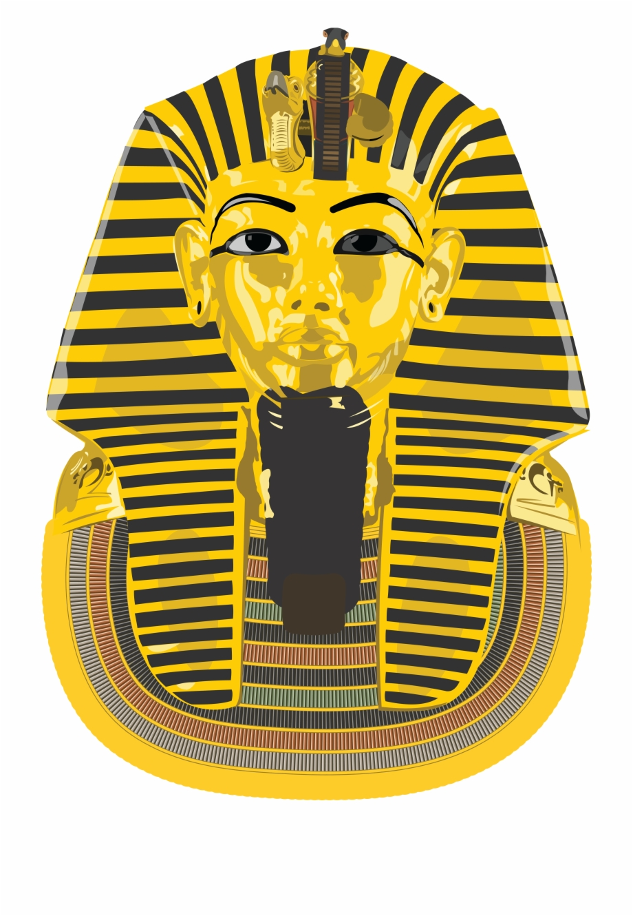 Free Clipart Of An Ancient Egyptian Death Mask For Free PNG Images.