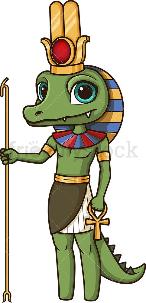 Ancient Egyptian God Sobek.