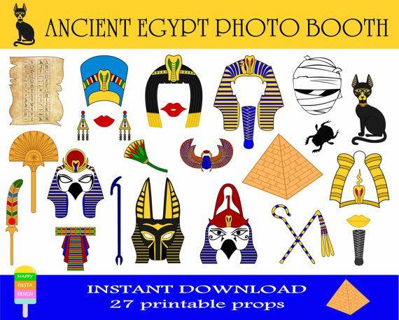 PRINTABLE Egypt Photo Booth Props.