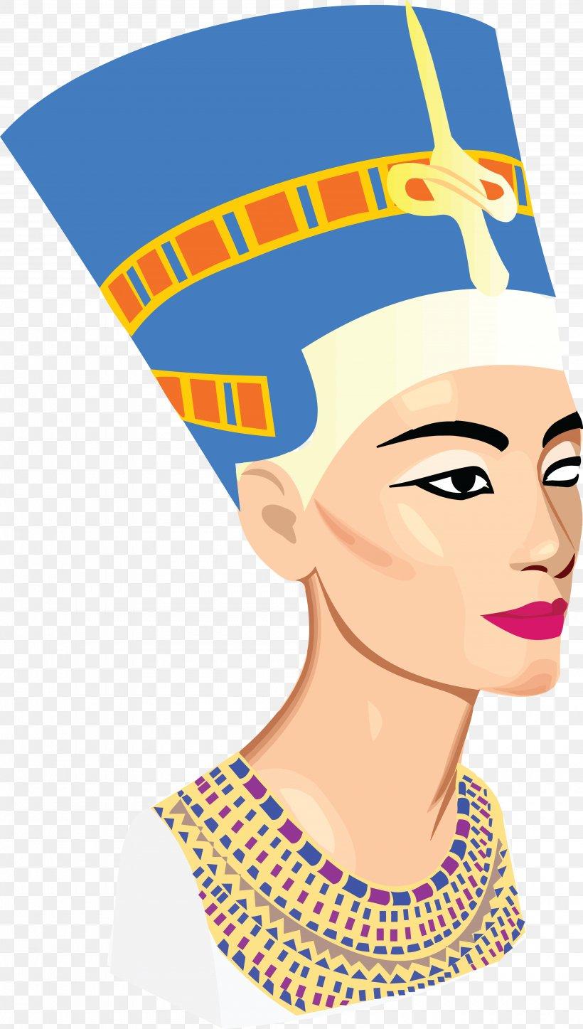 Nefertiti Bust Ancient Egypt Clip Art, PNG, 4000x7059px.