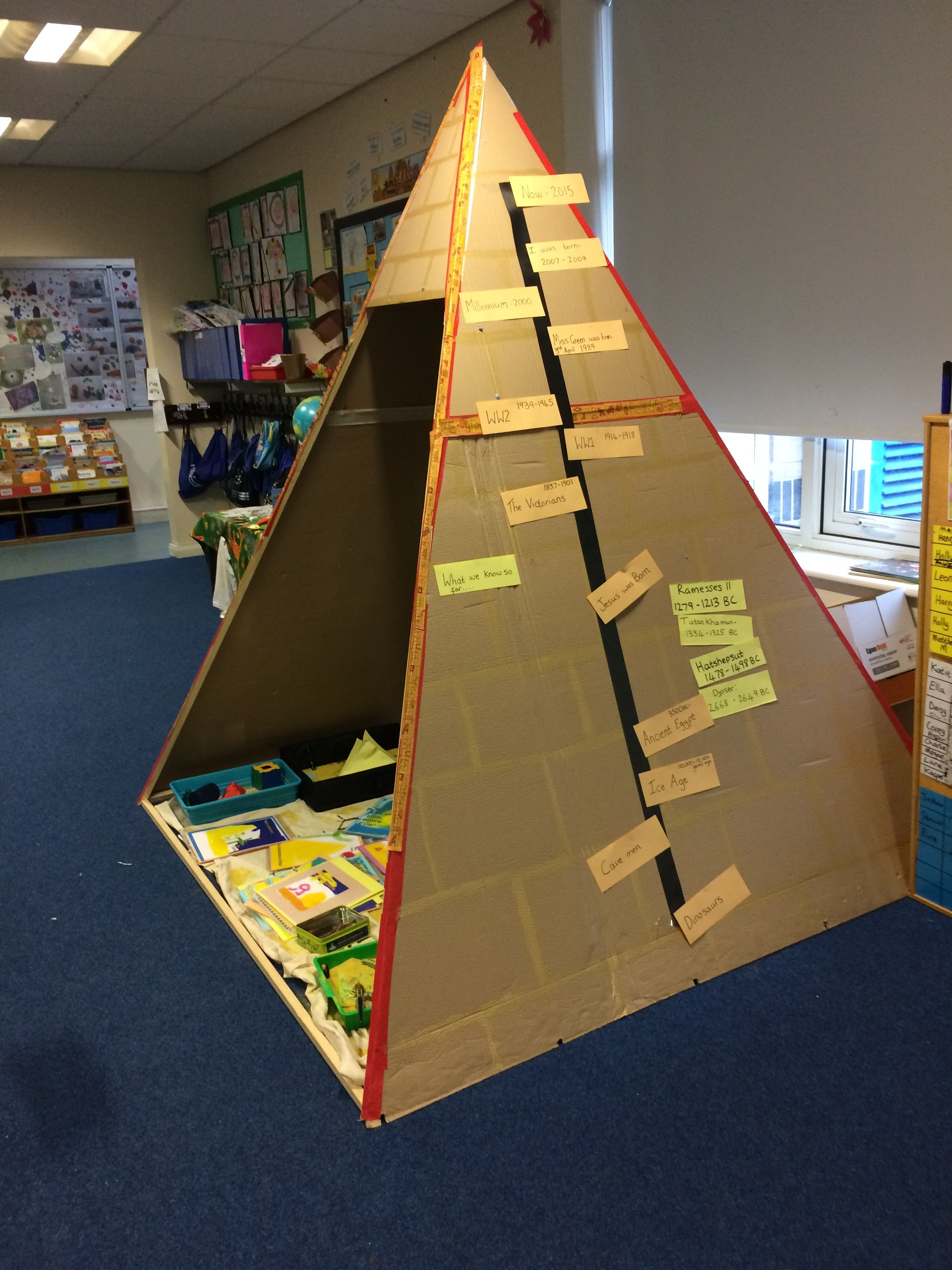 KS1 Egyptian Pyramid Role Play.