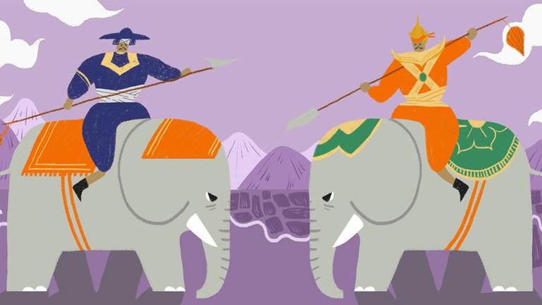 The Epic Legend of Thailand\'s Elephant Battle.
