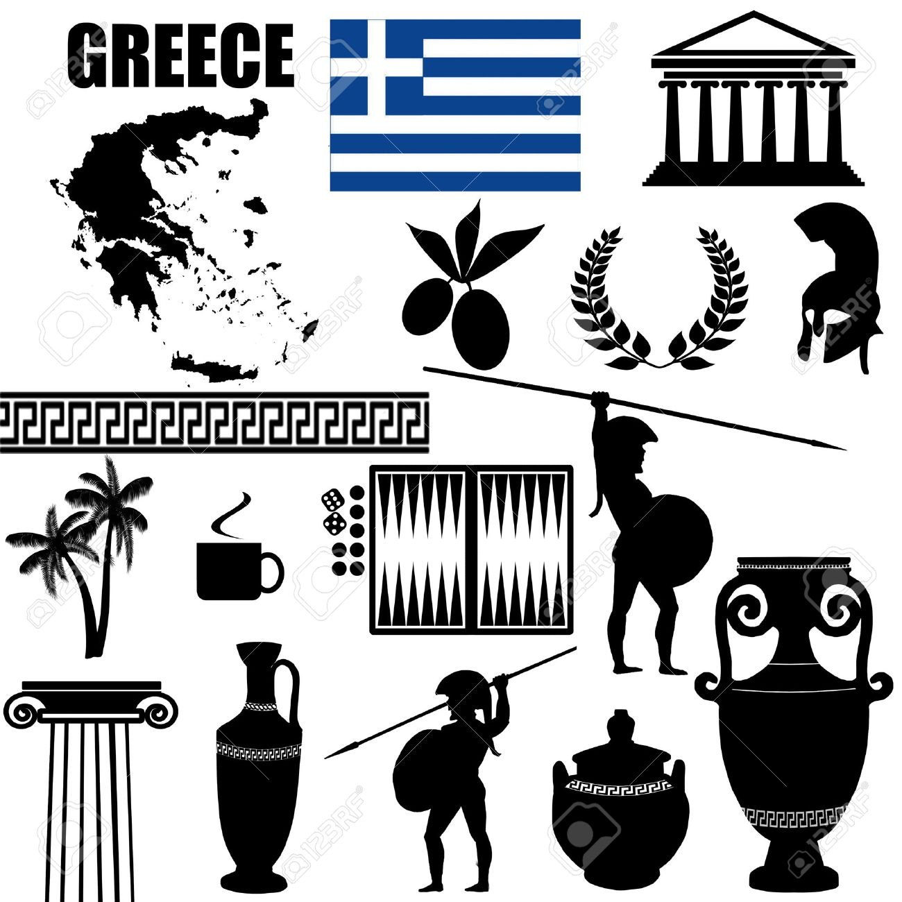 7,818 Greece Flag Stock Vector Illustration And Royalty Free.