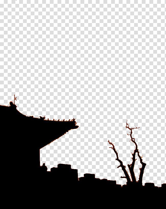 Fortifications of Xian Silhouette Architecture, Ancient town.