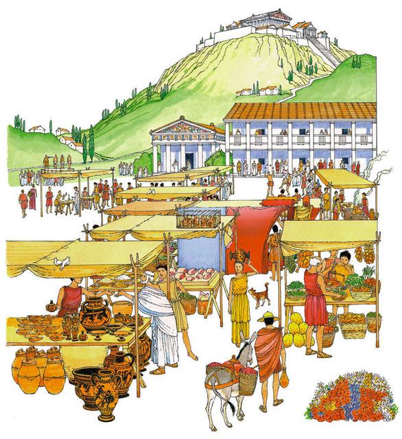 Ancient Greek Life : simplebooklet.com.