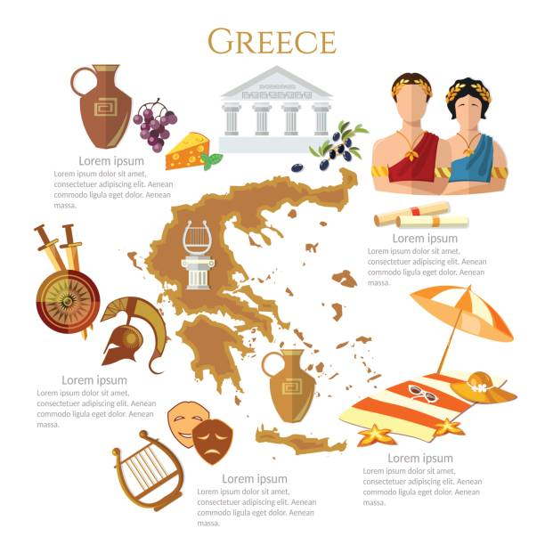 Best Ancient Greece Illustrations, Royalty.