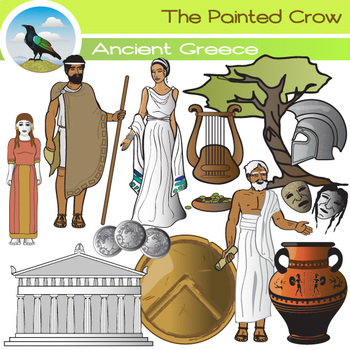 Ancient Greece Clip Art Set by The Painted Crow.