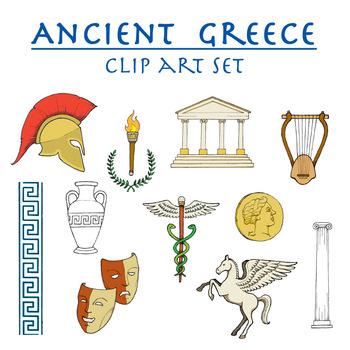 Ancient Greece clip art set.