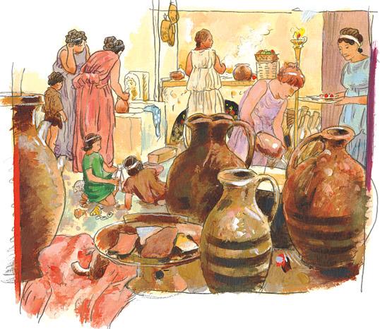 Ancient Greek Marketplace 071016» Vector Clip Art.