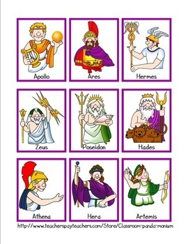 Ancient Greek Gods & Goddesses Card Game Sets & Mini.