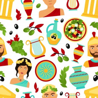 Ancient Greek Food Clipart.