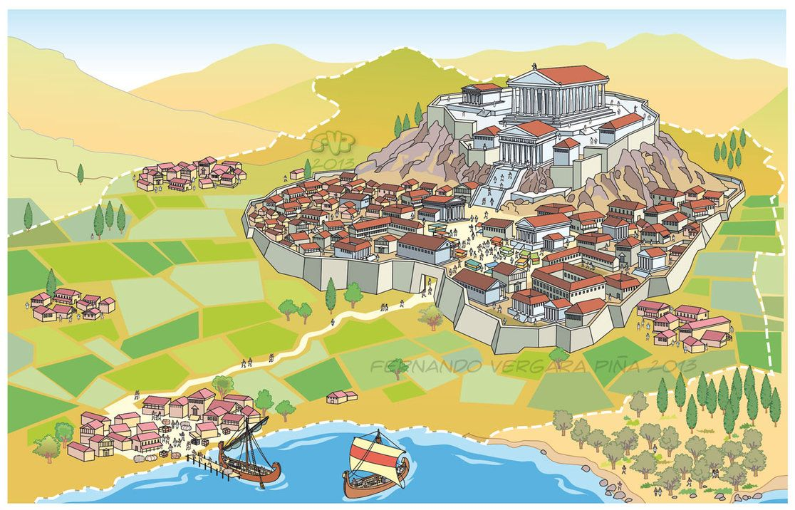 Greece clipart landscape greek, Greece landscape greek.