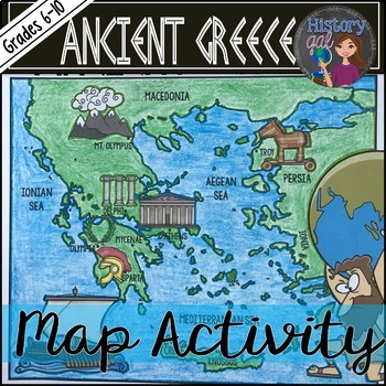 Ancient Greece Map Activity.
