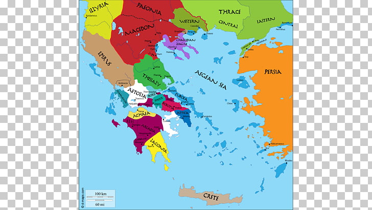Map Ancient Greece Attica Aigeis, alexander the great PNG.