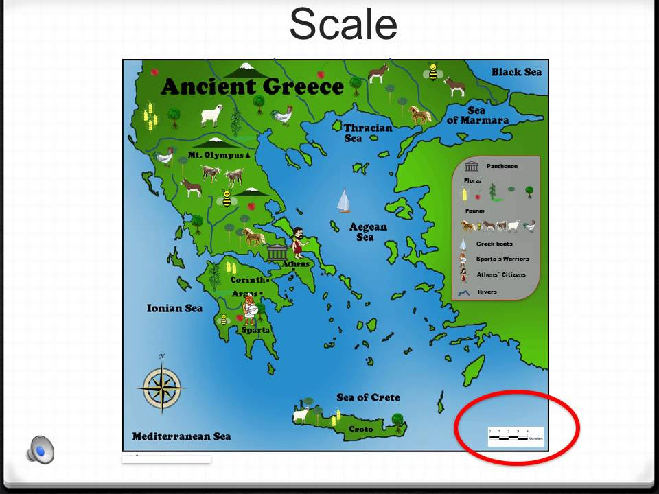 Ancient Greece Map.