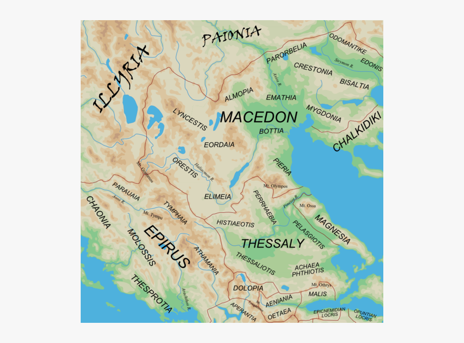 Epirus Ancient Greece Map, Cliparts & Cartoons.