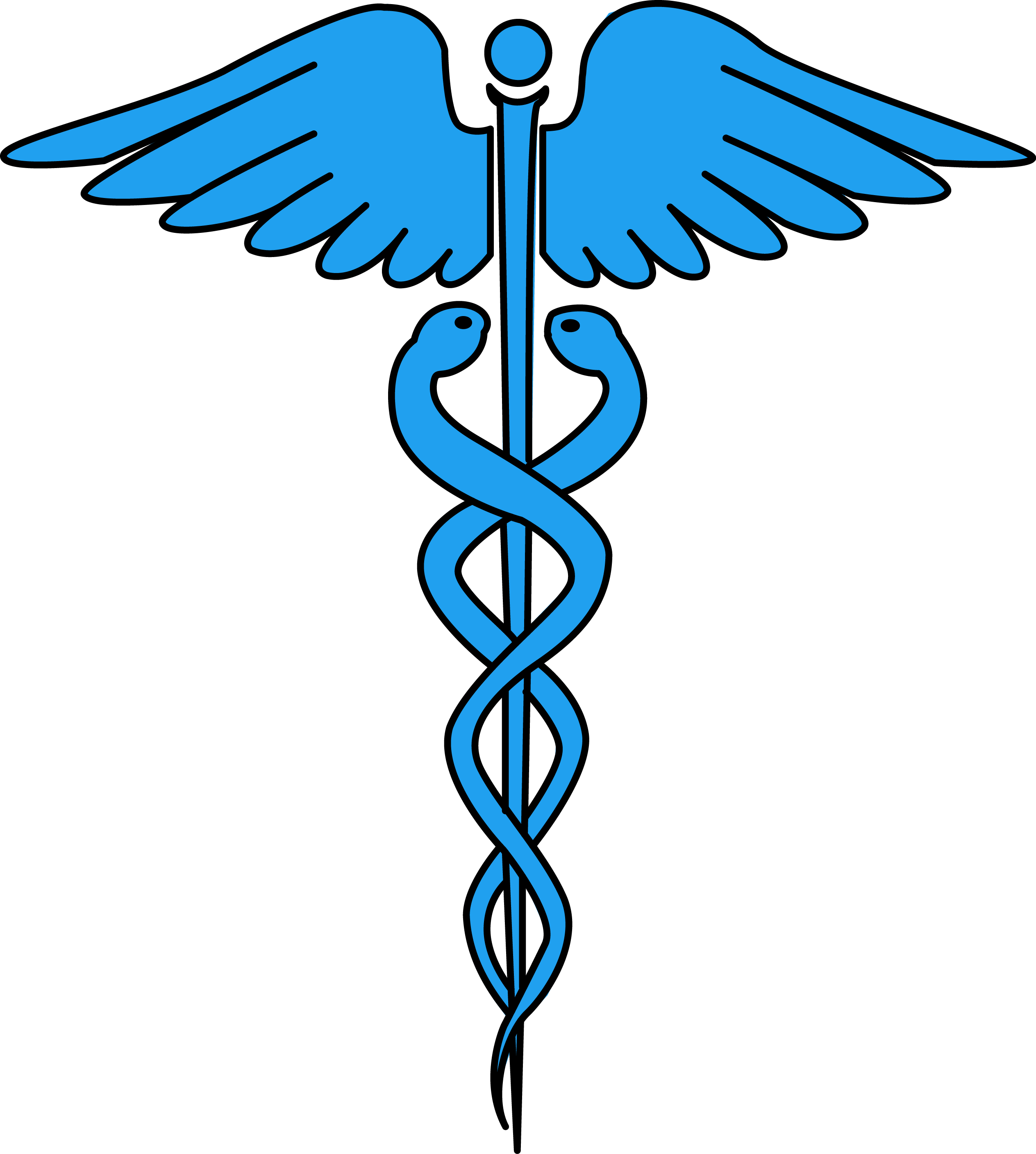 Image for free caduceus medical symbol health high.