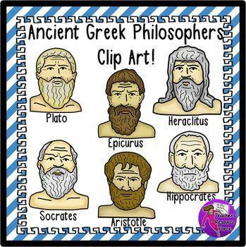Ancient Greek Philosophers Clip Art.