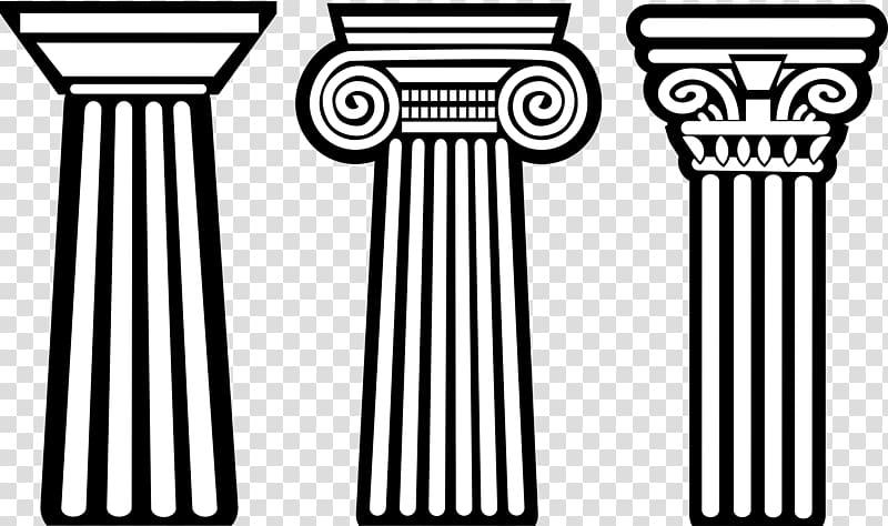 Ancient Greece Column Doric order, greek architectural.