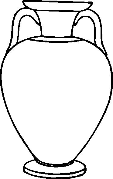 Outline Greek Amphora Clip Art at Clker.com.