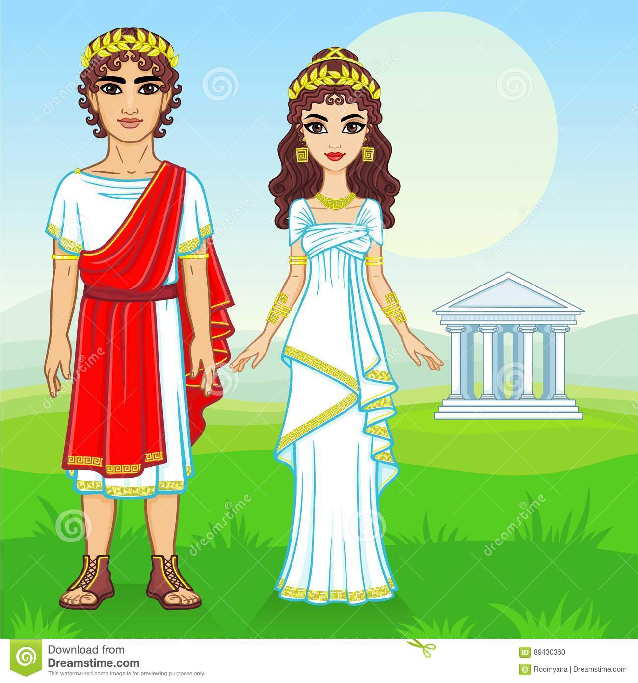 Ancient Greek Clothing Clipart.