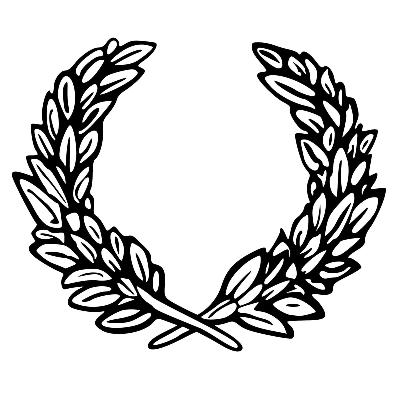 Greek Leaves Crown Clipart.