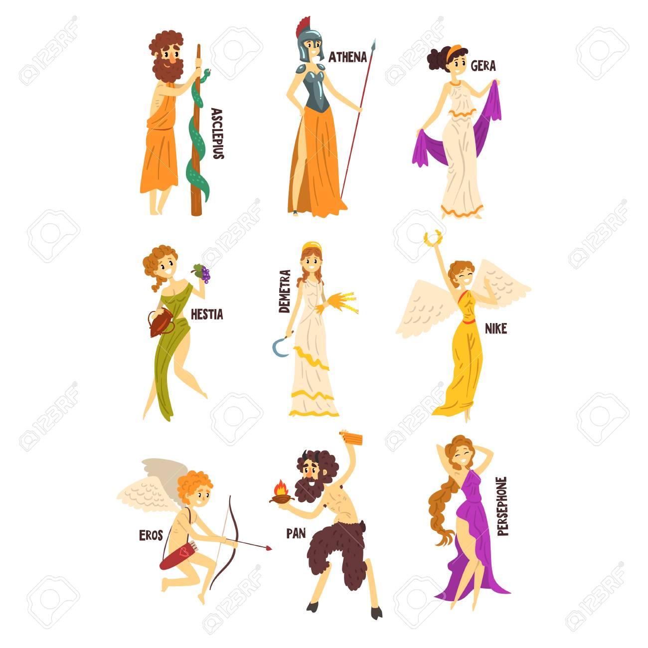 Olympian Greek Gods set, Persephone, Nike, Demetra, Hestia, Gera,...