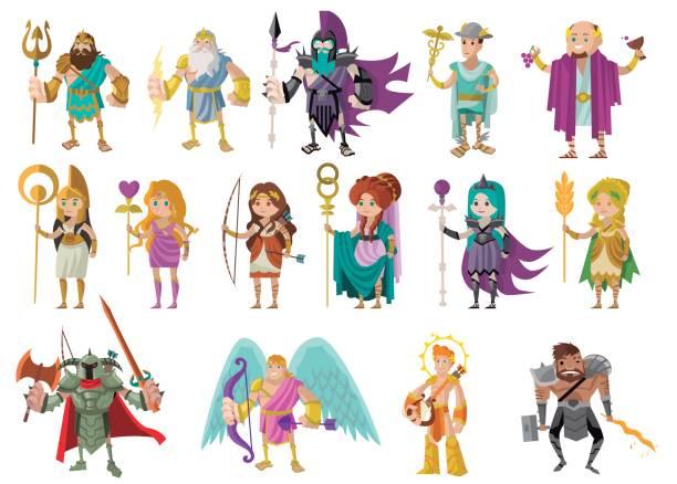 Best Greek Gods Illustrations, Royalty.