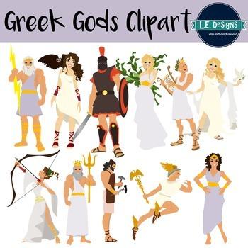 Greek Gods Clipart.
