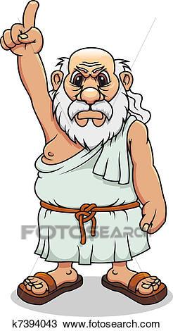 Ancient greek man Clipart.