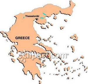 Greece Map Clipart.
