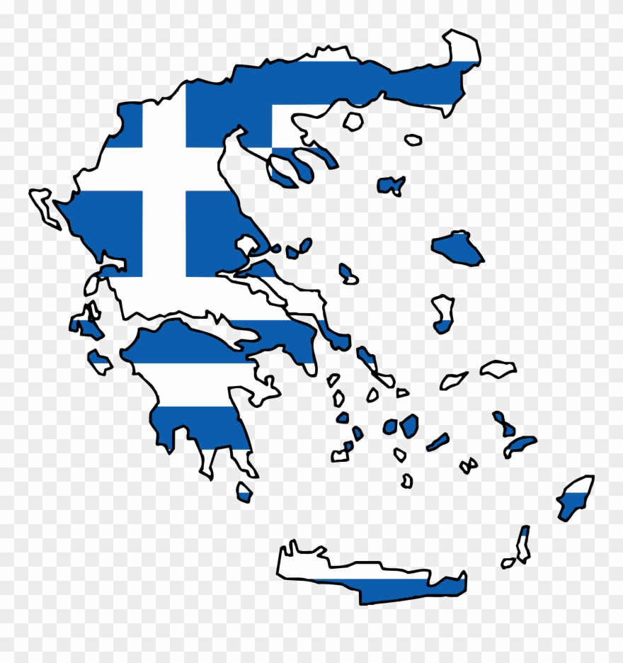 Greece Flag Clipart Drawings.