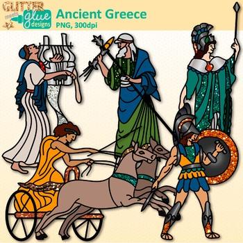 Ancient Greece Clip Art: Mediterranean Sea Civilization {Glitter Meets Glue}.