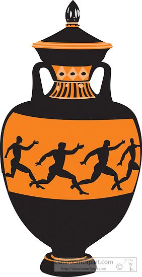 Ancient Greek Vase Clipart.